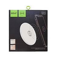 БЗУ Golf GF-WQ3 Round Wireless Charger 1A White, фото 2