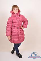 Куртка для девочки из плащевки зимняя (цв.терракотовый) HSWD H18-25 Рост:122,128,134,146