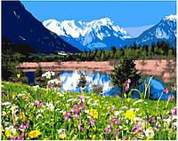 Картина по номерам Горное озеро без коробки, 40*50см, Brushme