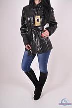 Куртка женская (цв.черный) из кожзаменителя демисезонная Banderas 6090 Размер:48,50,52,54,56
