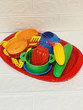Поднос с набором посуды 12 элементов