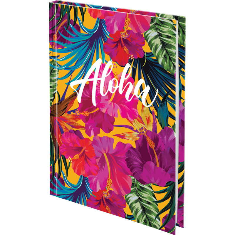 Записная книга блокнот Axent Neon Tropics А5 120л клетка тв.обл (8432-09-А)
