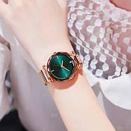 Часы женские наручные на магнитной застежке золотого цвета кварцевые часы на магните, фото 2
