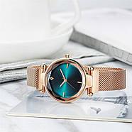 Часы женские наручные на магнитной застежке золотого цвета кварцевые часы на магните, фото 6