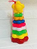 Пирамида детская игрушка 9 элементов, фото 2