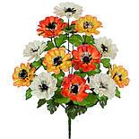 Букет бархатцы трехцветные, 51см(10 шт. в уп), фото 2