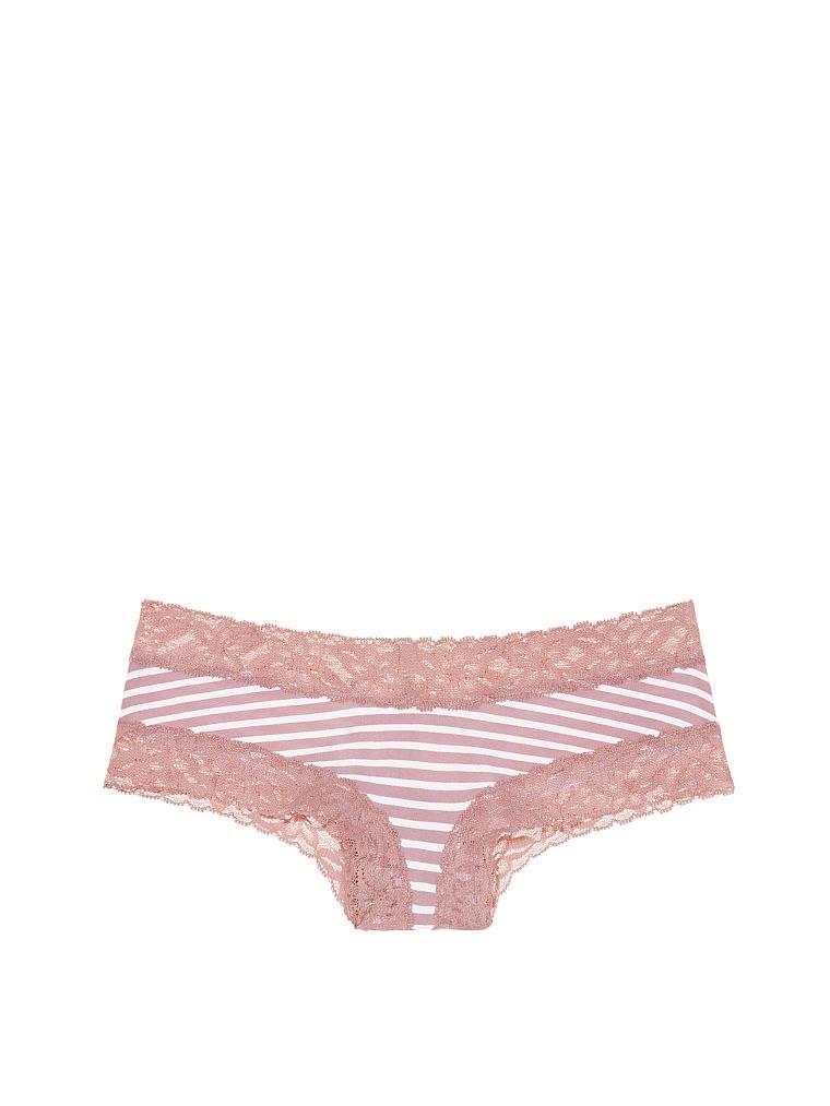 Кружевные трусики чики Victoria's Secret в полоску