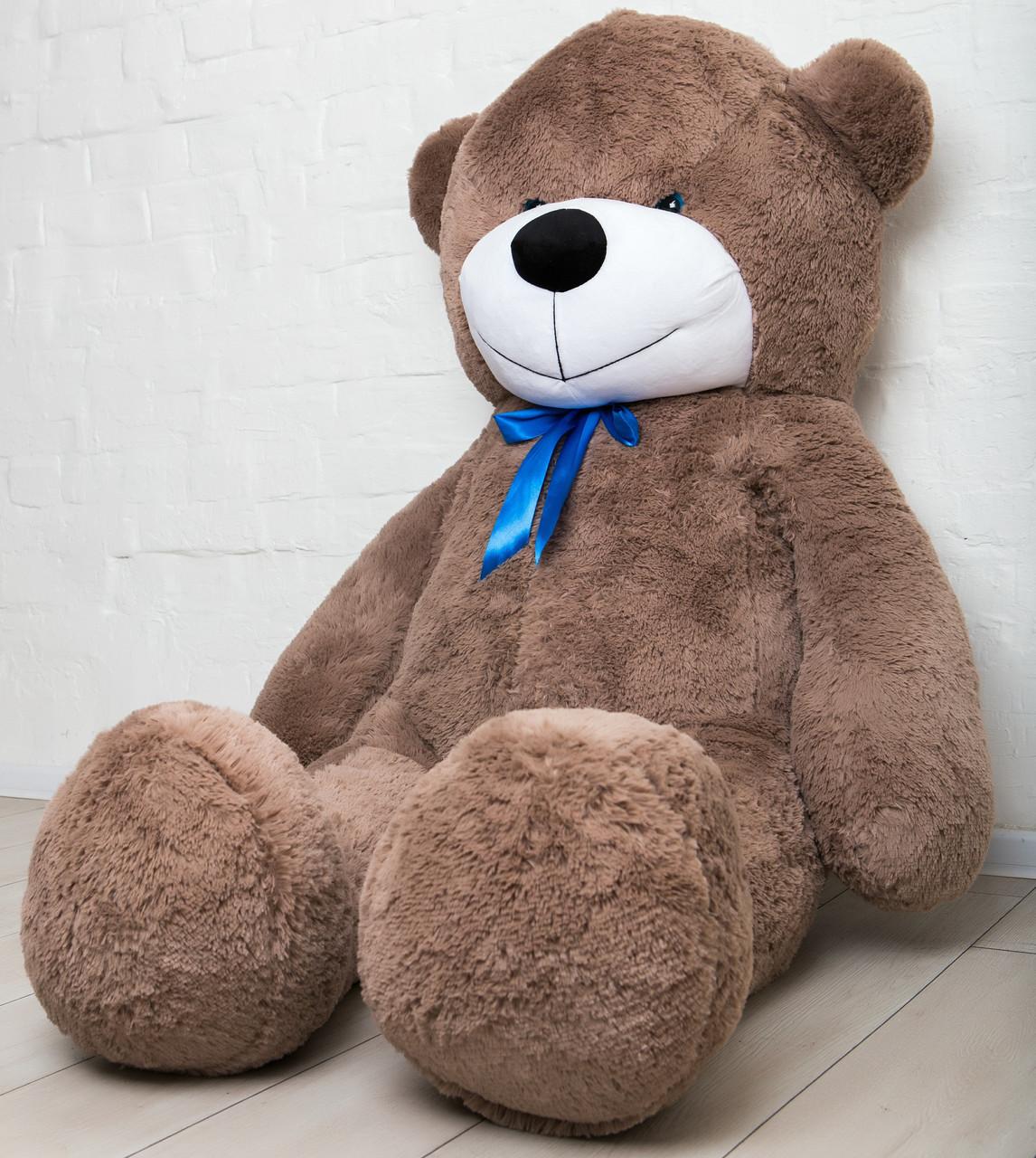 🌟🌟🌟🌟🌟❤️ Плюшевый Мишка 2 метра в Подарок. 200 см Большой Плюшевый Медведь Капучино.. Мягкая игрушка.