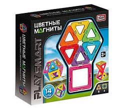 Магнитный конструктор Play Smart 2425 Цветные магниты 14 дет