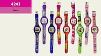 Детские наручные часы водоотталкивающие, 9 видов, 21см, в п/э 27,5*6см /120/ (4241)