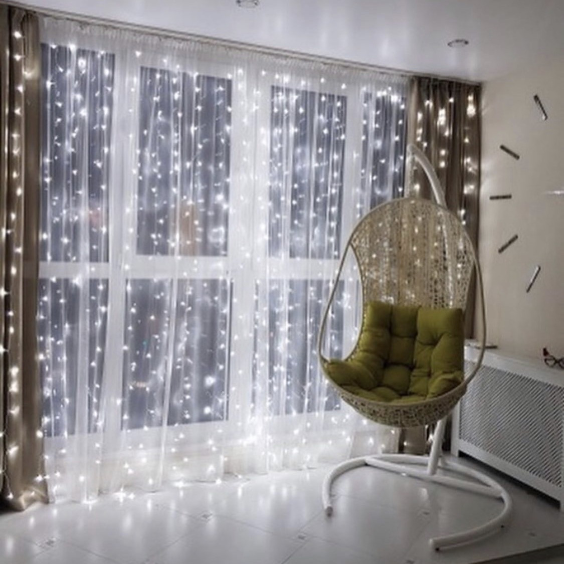 Гирлянда Водопад 2.5 м х 2.5 м, 480 LED, Соединяемая (Штора, Занавес, Curtain lights)