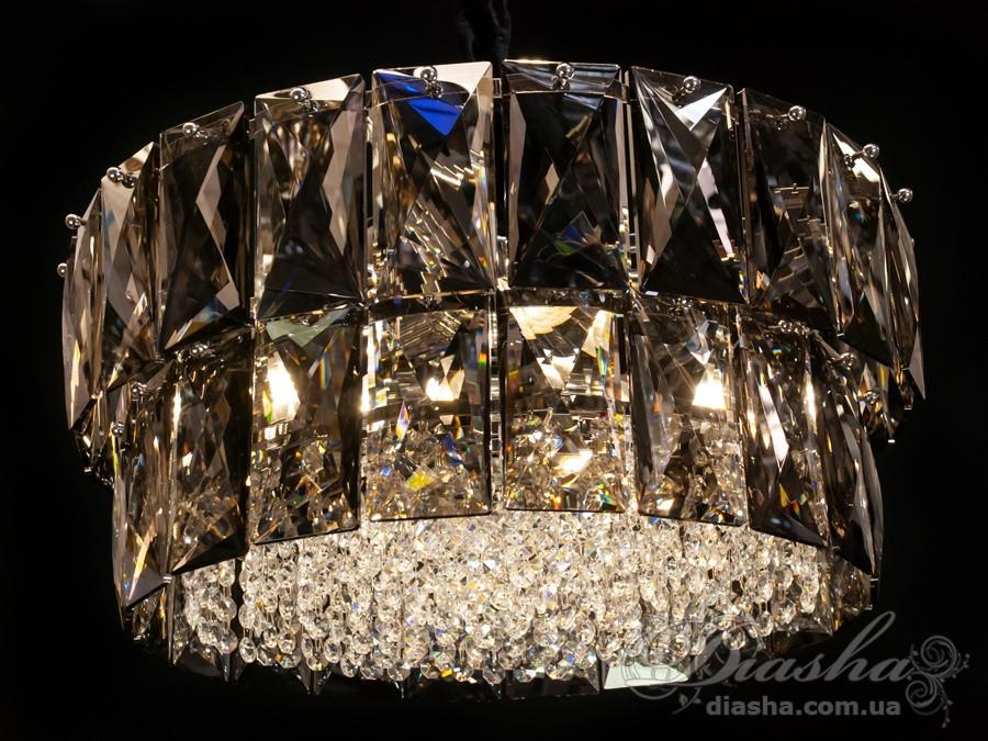 Современная хрустальная люстра в с золотистом цвете Диаша&8070-500G