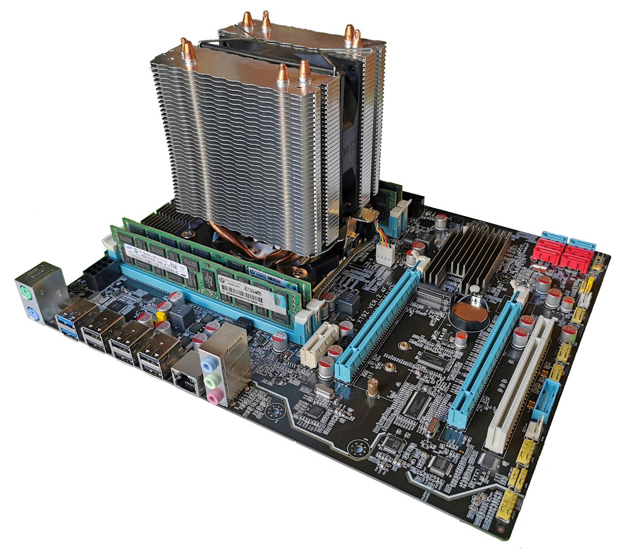 Комплект X79Z-2.4F + Xeon E5-2667 + 8 GB RAM + Кулер, LGA 2011