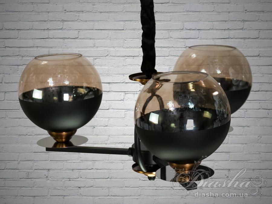 "Люстра в стиле Loft - ""Молекула"" на 3 лампы&9921-3"