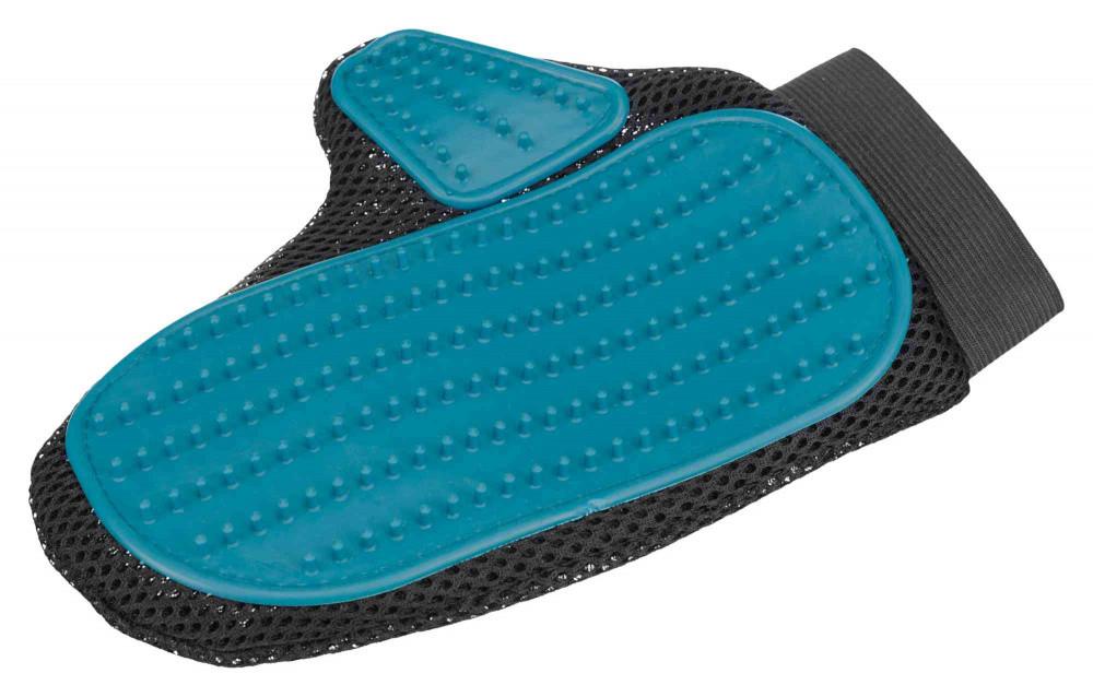 Щітка рукавиця для вичісування шерсті собак Trixie 23391