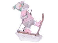 Статуэтка Lefard Мышка на лыжах 11х9 см 192-006 фигурка мышь крыса