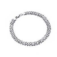 Родированный серебряный браслет ЕВРО 23 см