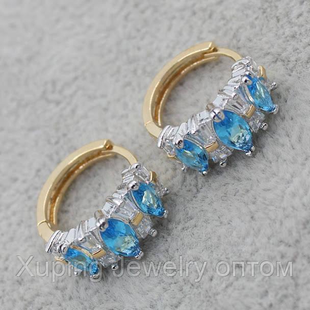Серьги-кольца позолота Xuping Jewelry: xpe2g-24