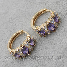 Серьги-кольца позолота Xuping Jewelry: xpe2g-25