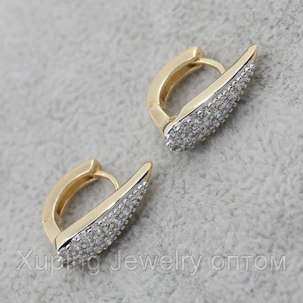 Серьги-кольца позолота Xuping Jewelry: xpe2g-27