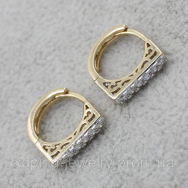 Серьги-кольца позолота Xuping Jewelry: xpe2g-29