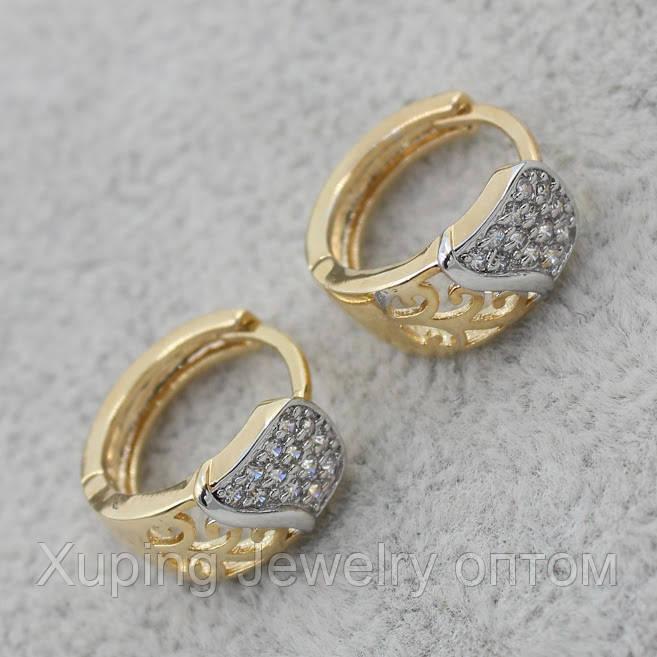 Серьги-кольца позолота Xuping Jewelry: xpe2g-30