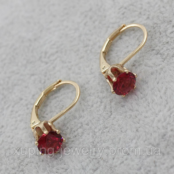 Серьги-кольца позолота Xuping Jewelry: xpe2g-32