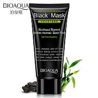 Черная маска пленка с бамбуковым углем BIOAQUA Black Mask (60г)