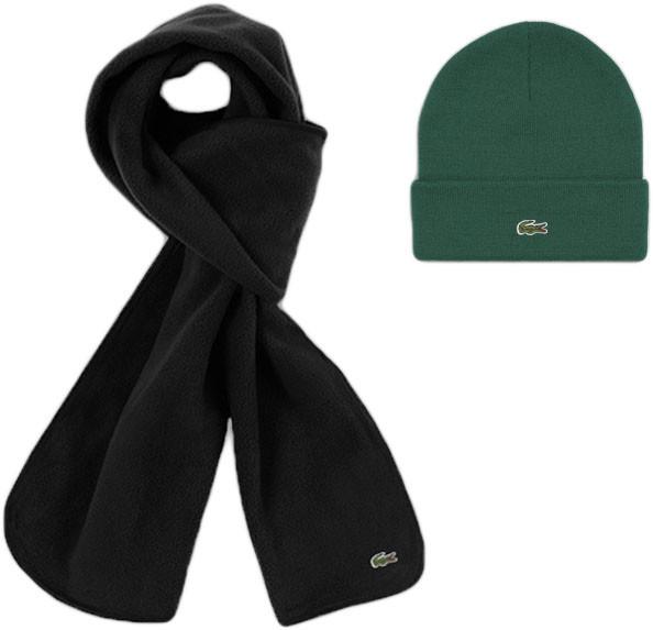 Теплая шапка и шарф Lacoste (ориг.бирка) зима