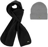 Теплая шапка и шарф Lacoste (ориг.бирка) зима, фото 6