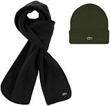 Теплая шапка и шарф Lacoste (ориг.бирка) зима, фото 7