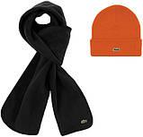 Теплая шапка и шарф Lacoste (ориг.бирка) зима, фото 3