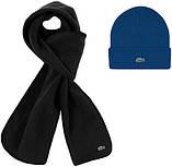 Теплая шапка и шарф Lacoste (ориг.бирка) зима, фото 5