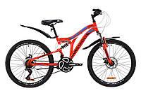 """Велосипед подростковый горный 24"""" Discovery ROCKET DD 2020 (рама 15"""", красный)"""
