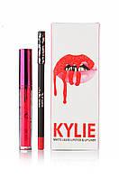 Набор матовая помада и карандаш Kylie Valentine