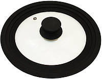 Крышка универсальная Vitrinor Spain Black 24/26/28см стеклянная с силиконовым ободком