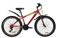 """Велосипед горный подростковый 26"""" Discovery TREK AM V-BR 2020 (рама 13"""", красный)"""