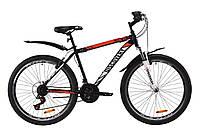 """Велосипед горный 26"""" Discovery TREK AM V-BR 2020 (рама 18"""", темно-синий с оранжевым)"""