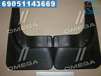 ⭐⭐⭐⭐⭐ Брызговики задние VW Polo 2010-05/2015, сед.(стандарт)(про-во NOVLINE)  NLF.51.30.E10