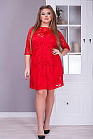 Женское стильное гипюровое платье большие размеры