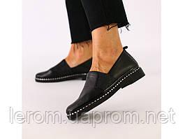 Женские туфли из черной кожи 36