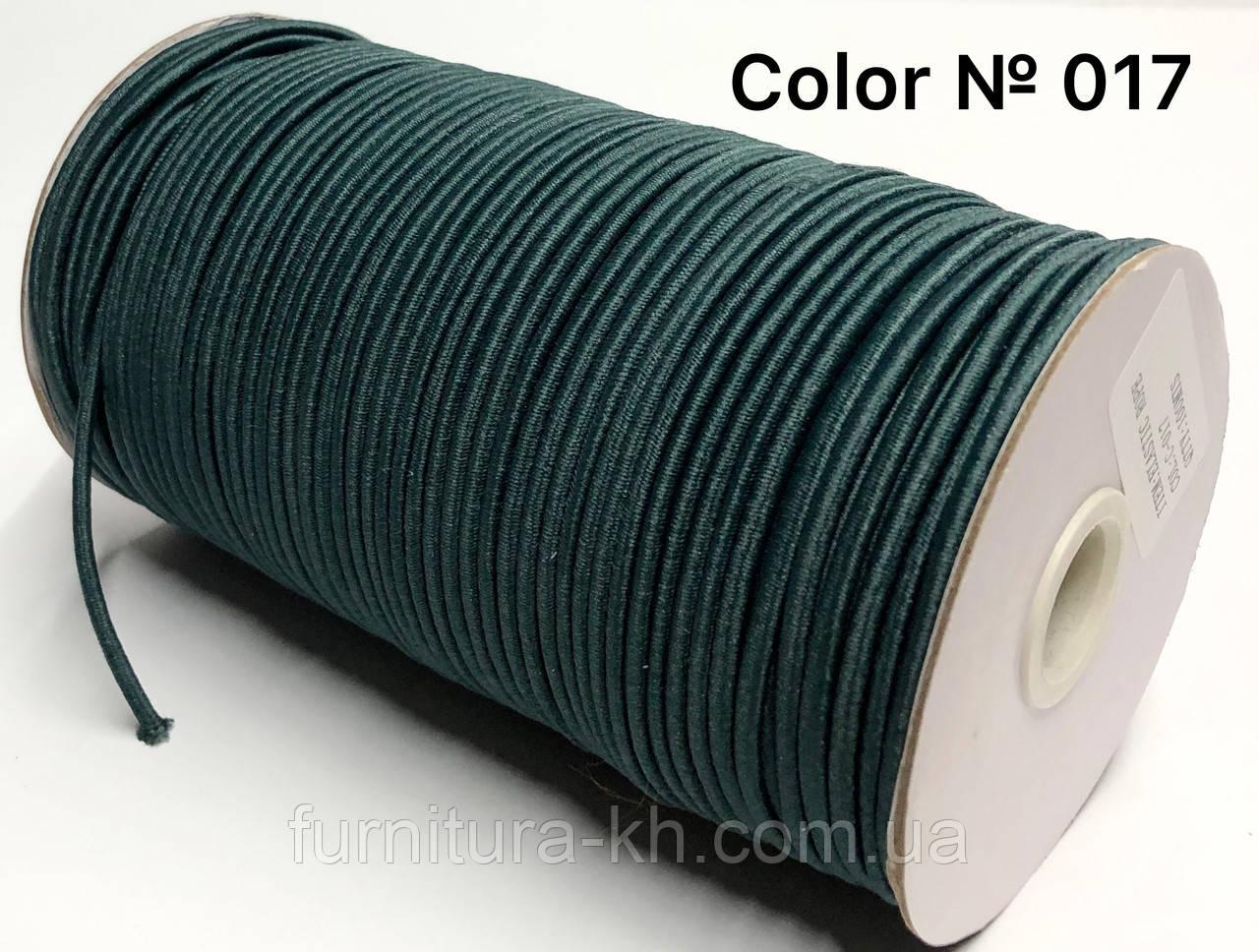 """Шляпная резинка """"Круглая резинка""""  толщина 3 мм цвет Темно-Зеленый"""