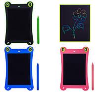 Планшет развивающий LCD2581 3 вида, многоцветный, размер 8,5 , ручка, кнопка удаления, батар , в кор 16,5*1*2