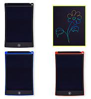 Планшет развивающий LCD2583 3вида, многоцветный, размер 8,5 , ручка, кнопка удаления, батар , в кор 15*1*22