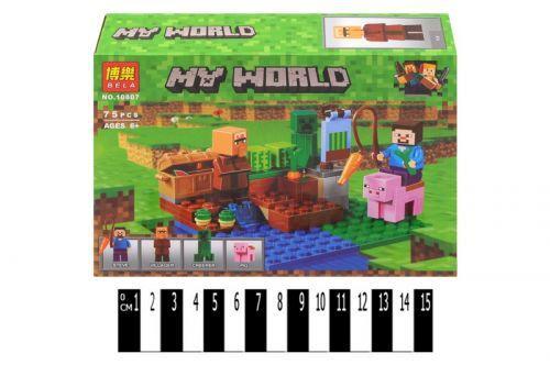 "Конструктор ""My World: Майнкрафт. Урожай на ферме"", 75 дет 10807"