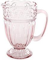 Кувшин Siena Toscana 1350мл, розовое стекло, фото 1