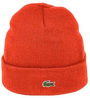 Мужская шапка Lacoste (ориг.бирка) оранжевая