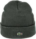 Мужская шапка Lacoste (ориг.бирка) зеленая, фото 5