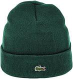 Мужская шапка Lacoste (ориг.бирка) зеленая, фото 9