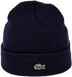 Мужская шапка Lacoste (ориг.бирка) синяя, фото 5